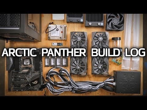GLORIOUS Custom Watercooled PC! Arctic Panther Build Log Part 1