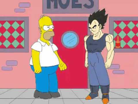 Homero simpson vs vegeta parodia