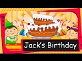 Animated story - Jack's birthday party - Learn Action Words -English