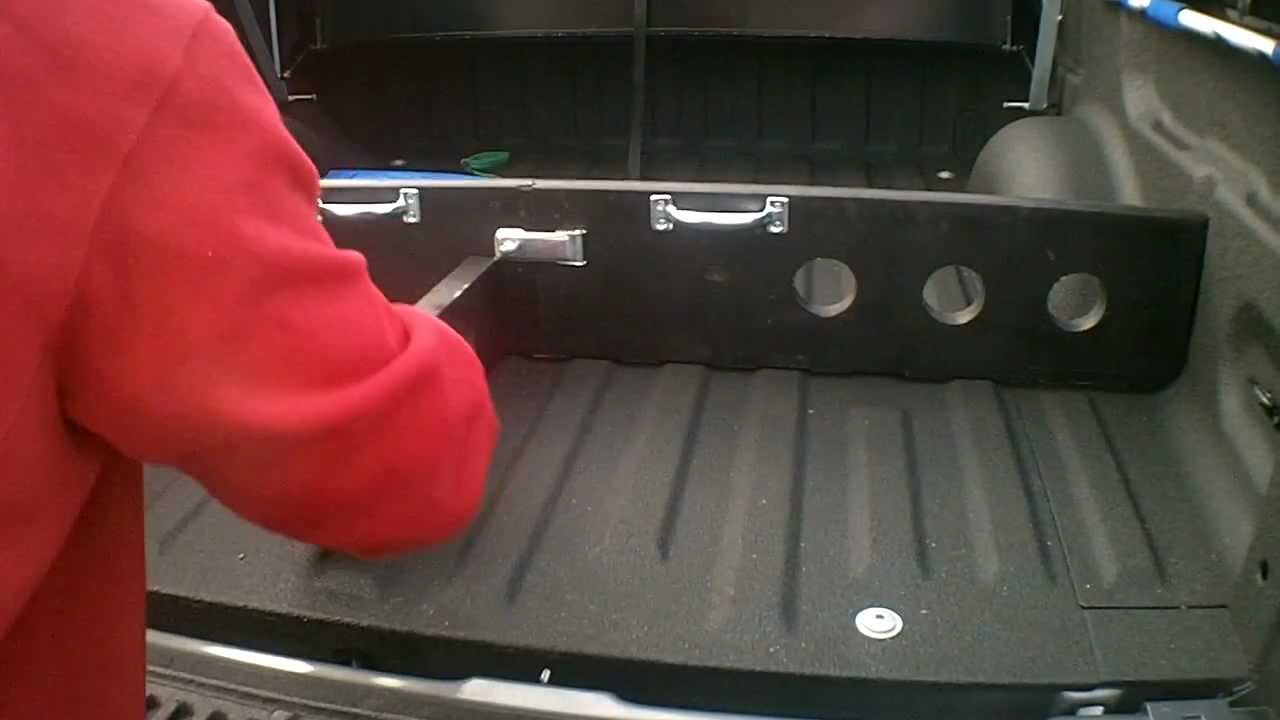 self made folding bed divider for f150 - youtube