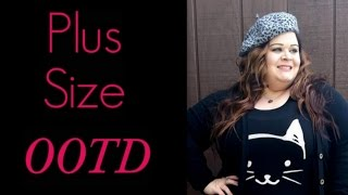 Plus Size OOTD: Forever 21+ Cat Top and Acid Wash Jeggings Thumbnail