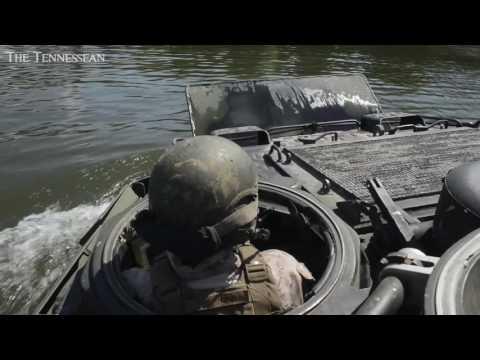 Marines showcase Amphibious Assault Vehicles in Cumberland River drills