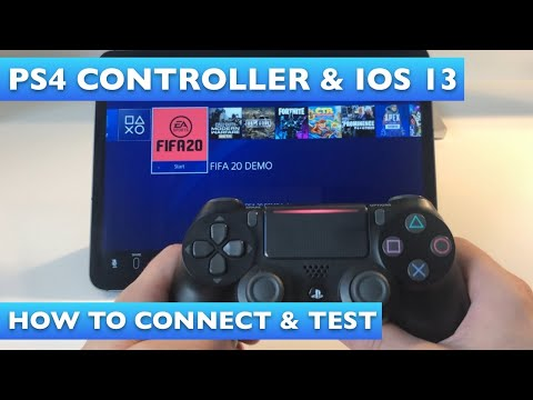 How to connect a PS4 controller to an iPad or iPhone in iOS 13 (Fifa 20 & Fortnite Test)