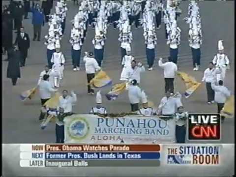 Punahou School Marching Band & JROTC Color Guard President Obama Inaugural Parade 2009