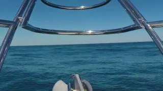 Miami to New York on a Motor yacht, ocean side. Time lapse video
