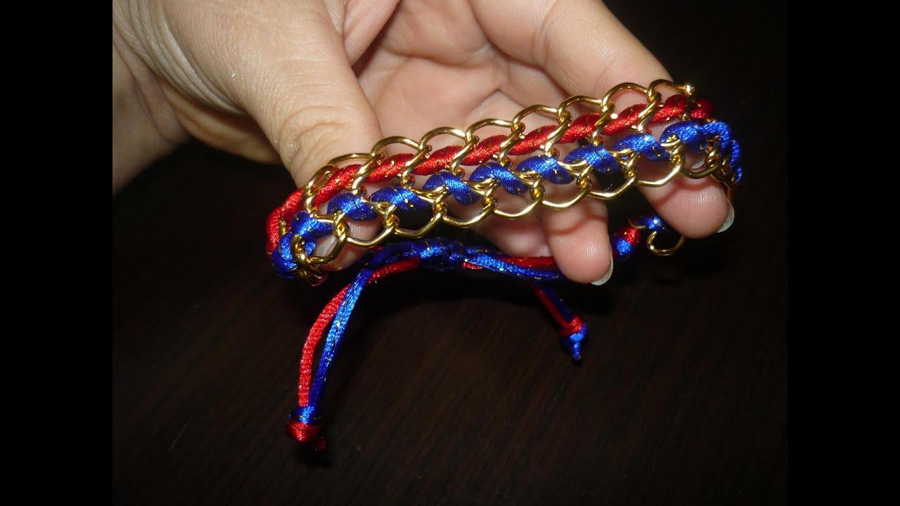7a6c51d60447 Paso a paso de pulseras con cadena y Cola de Raton Diy   136 Manualidades  la Hormiga