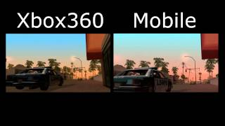 GTA San Andreas - Xbox 360 Vs Mobile Version | Side By Side Comparison