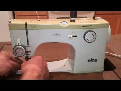 How To Thread Vintage Elna TSP Upper And Lower Thread Bobbin YouTube Cool How To Thread A Elna Sewing Machine