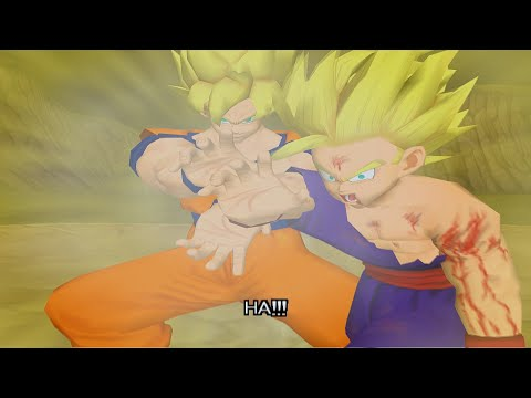 Dragon Ball Z Budokai Walkthrough Part 8 - SSJ2 Gohan vs Super Perfect Cell Ending (PCSX2 + Sweetfx)