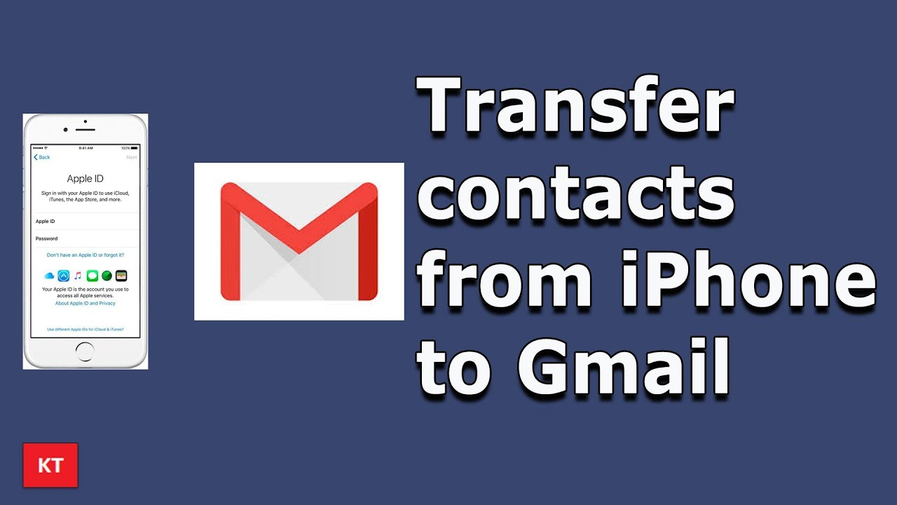 How to export contacts from iPhone to Gmail (2 ways) | Backup ...