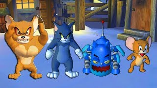 Tom and Jerry in War of the Whiskers - Tom, Jerry, Monster Jerry, Robocat - Tom & Jerry cartoon game