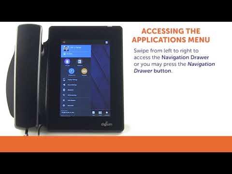 Digium D80 IP Phones Training | How to Access the Applications Menu
