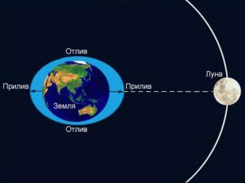 2 Разных объяснения причин приливов и отливов. Кондрашов А.А. и Канал Знание Тесла