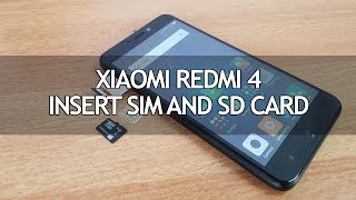 Xiaomi Redmi 4- How to Insert SIM and Micro SD Card