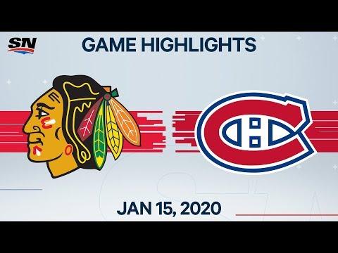 NHL Highlights   Blackhawks Vs. Canadiens - Jan. 15, 2020