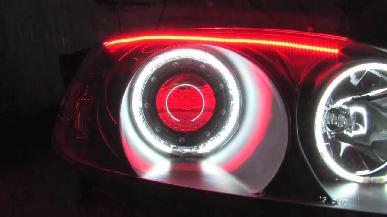 Honda Civic Halo Demon Eye Headlights Youtube