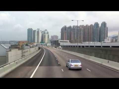 Hong Kong bus ride from Causeway Bay to Airport