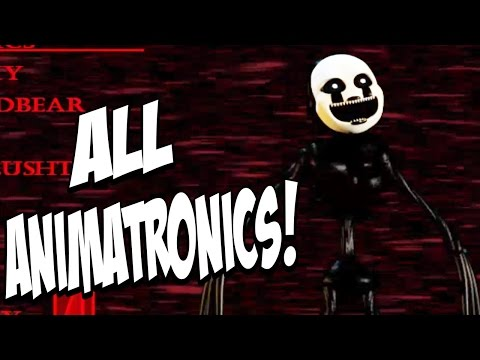 Five Nights At Freddys 4 Halloween Edition: ALL NEW ANIMATRONICS! EXTREMELY CREEPY!