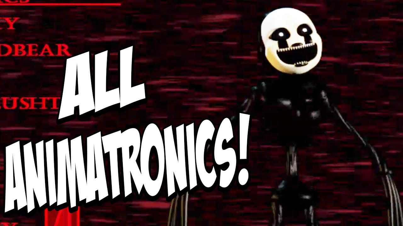 Five Nights at Freddys 4 Halloween Edition: ALL NEW ANIMATRONICS ...
