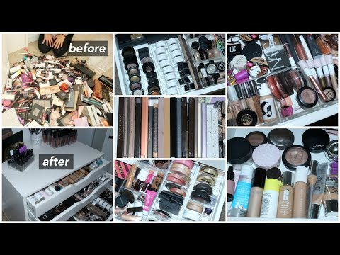 REORGANIZING & DECLUTTERING MY ENTIER MAKEUP COLLECTION // MAY 2018