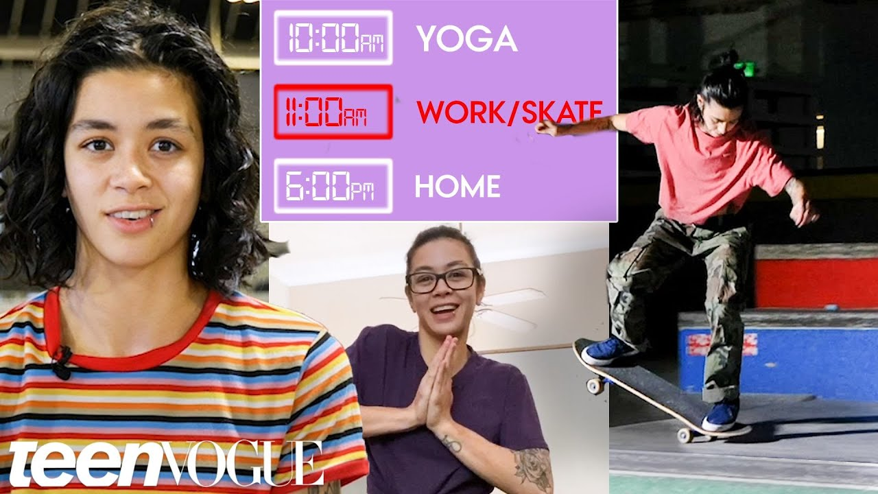 Olympic Skateboarder's Daily Routine While Filming a New Skate Video | Teen Vogue