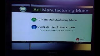 Xbox 360 Manufacturing Mode