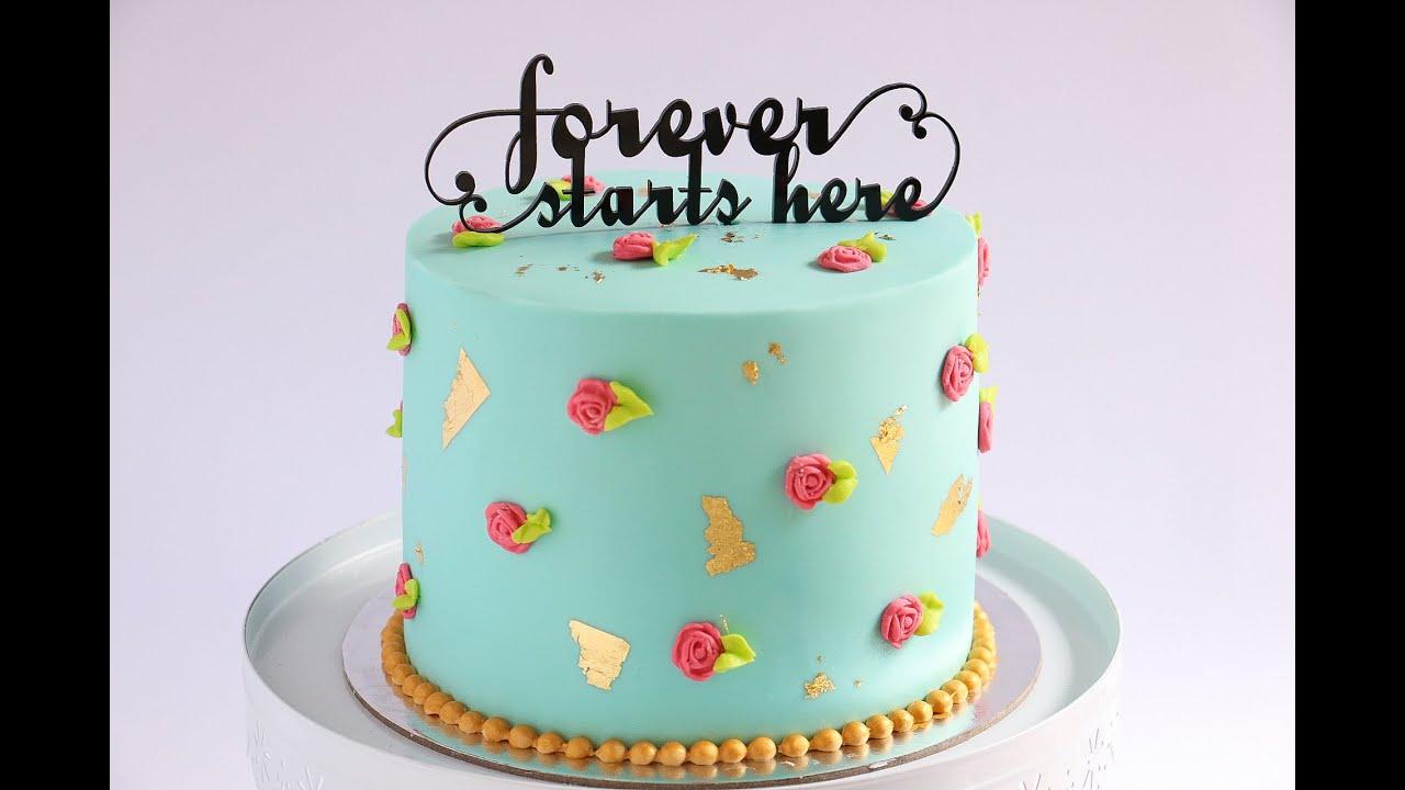 Shabby Chic Gold Leaf Cake Tutorial Rosies Dessert Spot Youtube