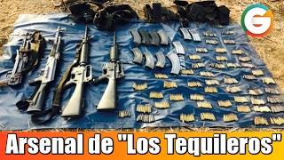 """Decomisan arsenal de """"Los Tequileros"""" en Guerrero"""