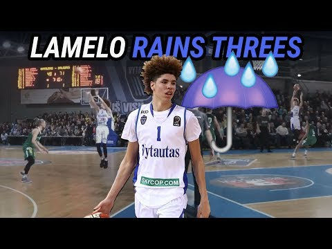 LaMelo Ball & Gelo Ball MAKE IT RAIN Against BEST TEAM IN LITHUANIA! Full Highlights! 💦