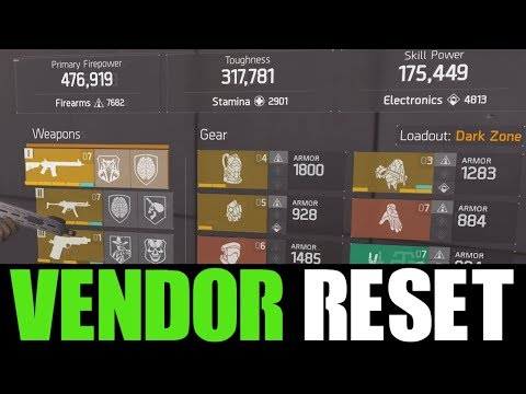 THE DIVISION - OKAY VENDOR RESET | GOD ROLL WEAPONS, GEAR & GEAR MODS! (YOU NEED TO BUY)