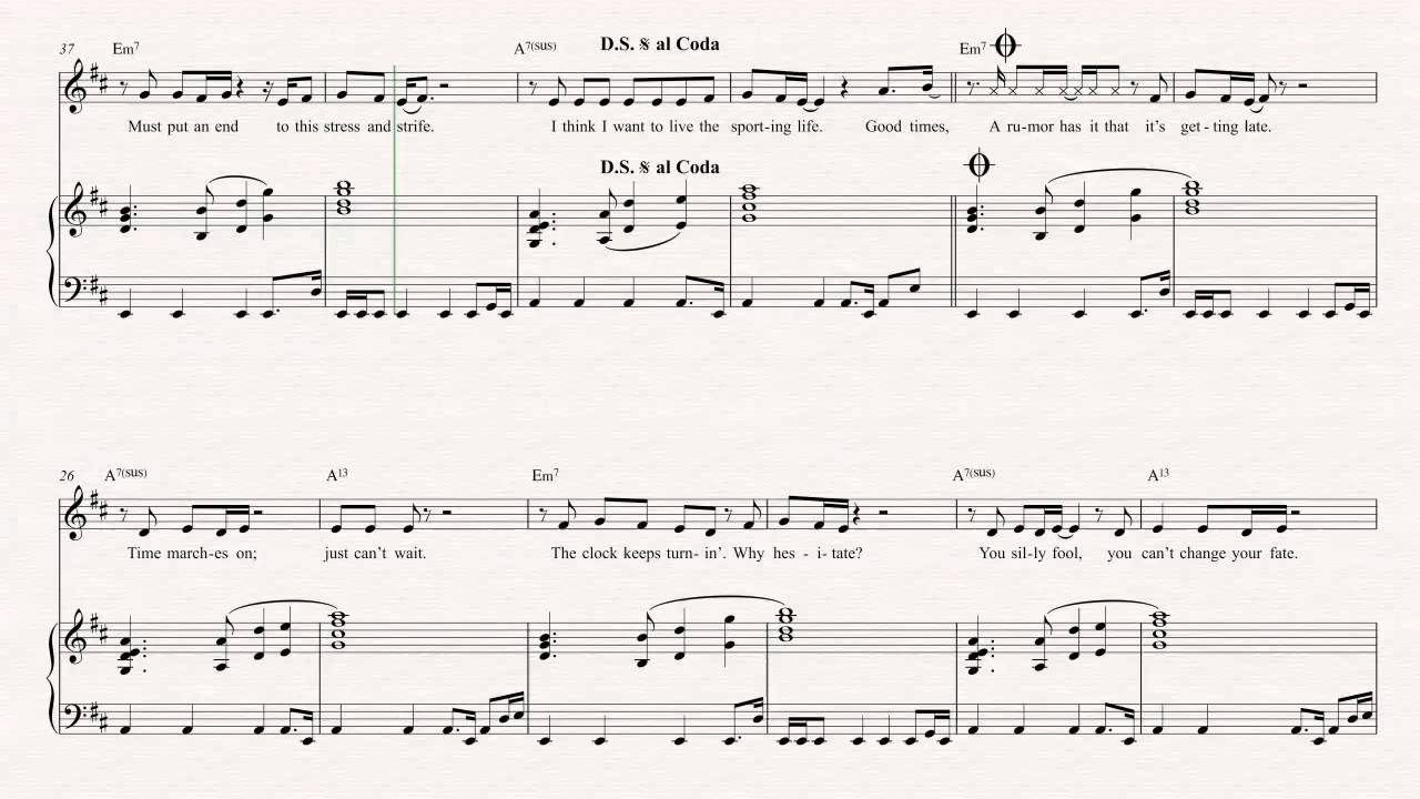Violin Good Times Chic Sheet Music Chords Vocals Youtube