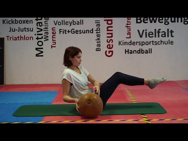 Bauchmuskelworkout mit Lena