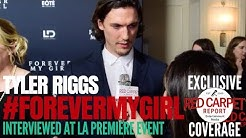 "Tyler Riggs interviewed at the LA Premiere of ""Forever My Girl"" #ForeverMyGirl"