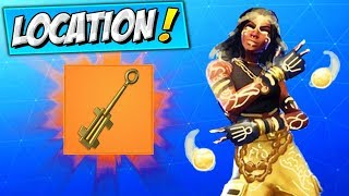 How To Get the SKELETON KEY LOCATION (FREE SKINS) Fortnite UNLOCK NEW SECRET LUXE STYLE (STAGE 1)