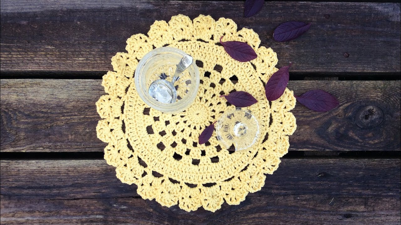 Round Crochet Placemat Tutorial Youtube