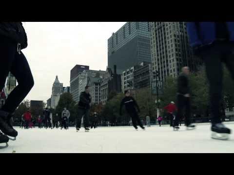 Ice Skating In Millennium Park