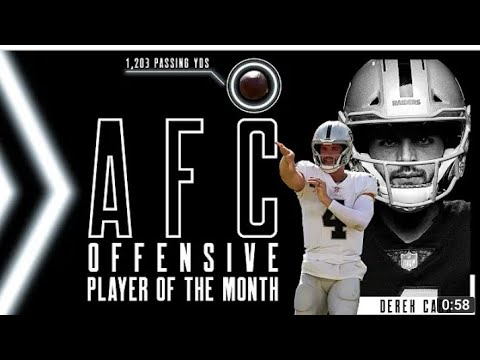 Las Vegas Raiders QB Derek Carr Named AFC Player Of The Month Well Deserved By Eric Pangilinan