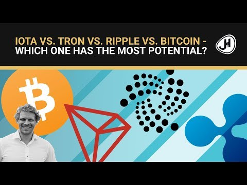 IOTA Vs. Tron Vs. Ripple Vs. Bitcoin... - Which One Has The Most Potential?