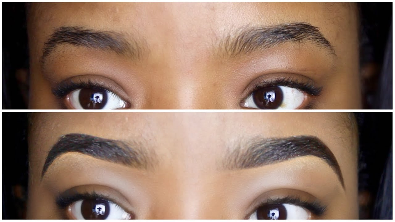 Easy Eyebrow Tutorial How To Draw Fill In Your Eyebrows Youtube