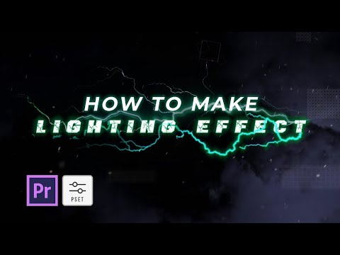 Free Presets Lighting Text Effect For Premiere Pro