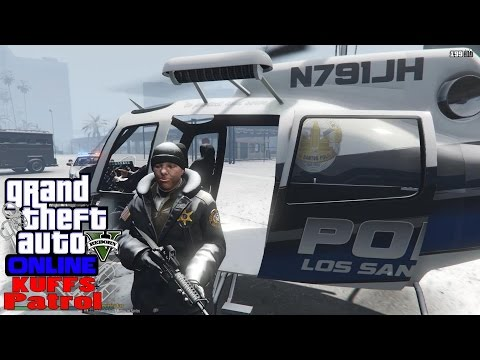 GTA 5 LSPDFR Online Multiplayer KUFFS Patrol #14|Cops Shoot From Helicopter To Take Out Armed Gunman