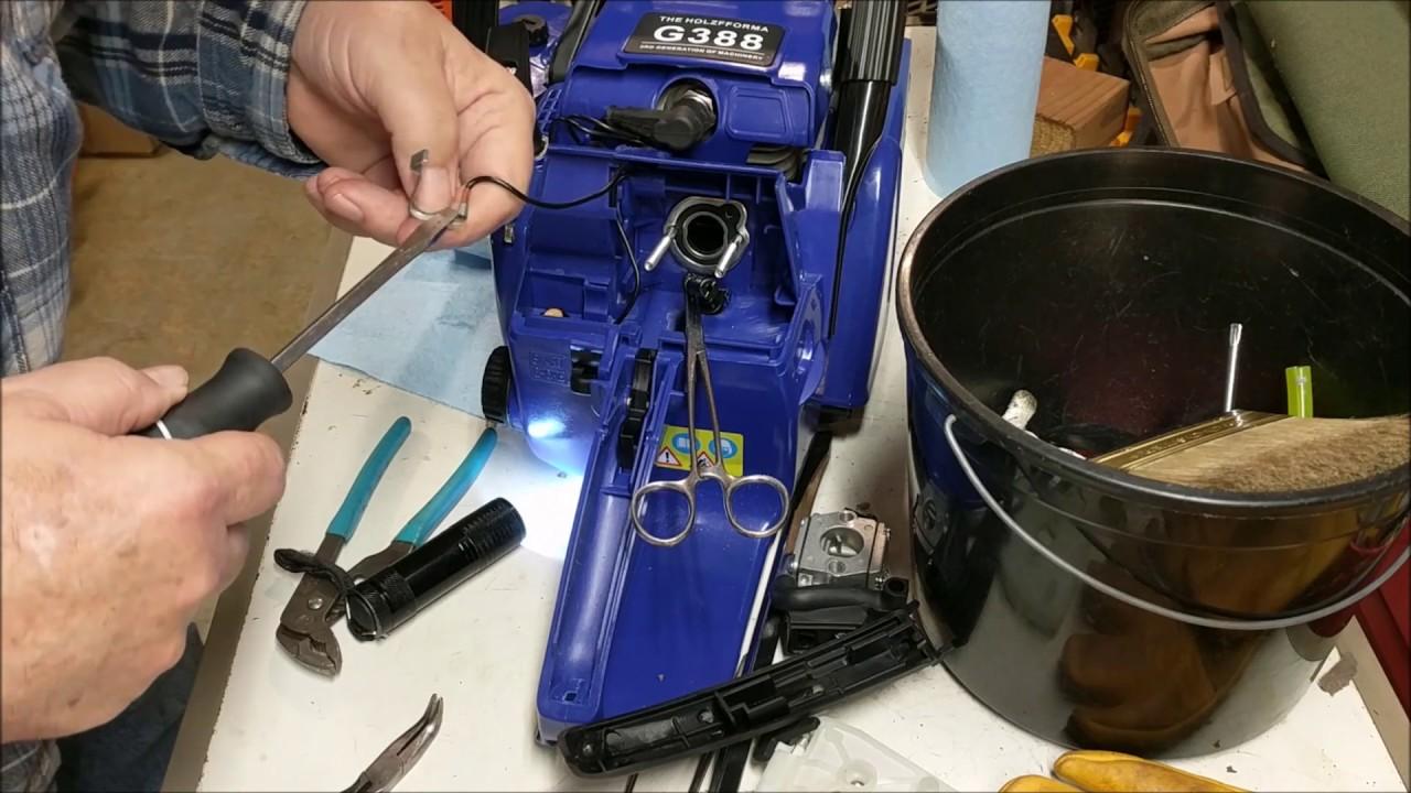 Holzfforma FarmerTec Blue G388 Chainsaw Throttle Fix