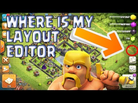 😱OMG😱 I CAN'T SEE MY LAYOUT EDITOR !CLASH OF CLANS!
