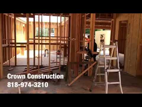 Van Nuys House Framing by Crown Construction 818-974-3210