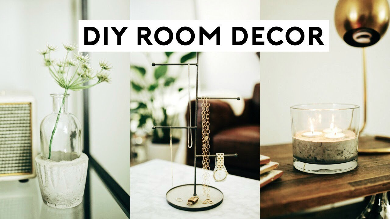 Diy room decor 2018 cheap simple tumblr room for Diy room decorations youtube