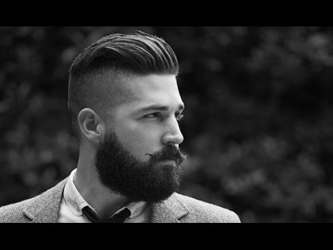 Mens Undercut Hairstyle with Beard