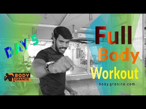 Full body workout ( Day 5 ) Train to Tone Weight loss Cardio workout( Hindi)
