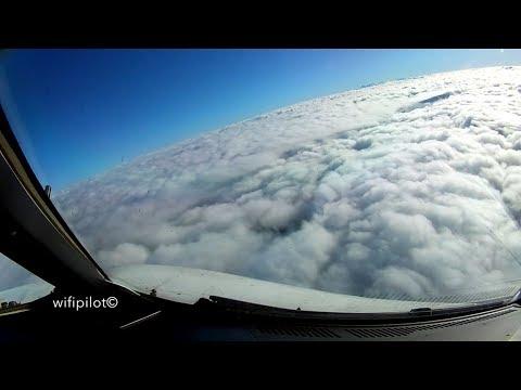 Cloud Surfing - Zurich - Copenhagen - Airbus320 - GoPro & iPhone