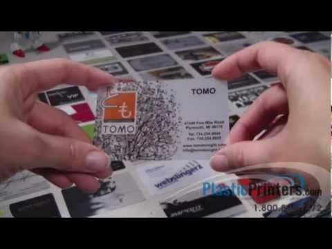 Beautifully printed frosted plastic business card youtube reheart Choice Image