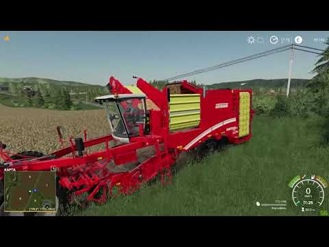 #2 Уборка картофеля  (Farming simulator 19 Простоквашено)